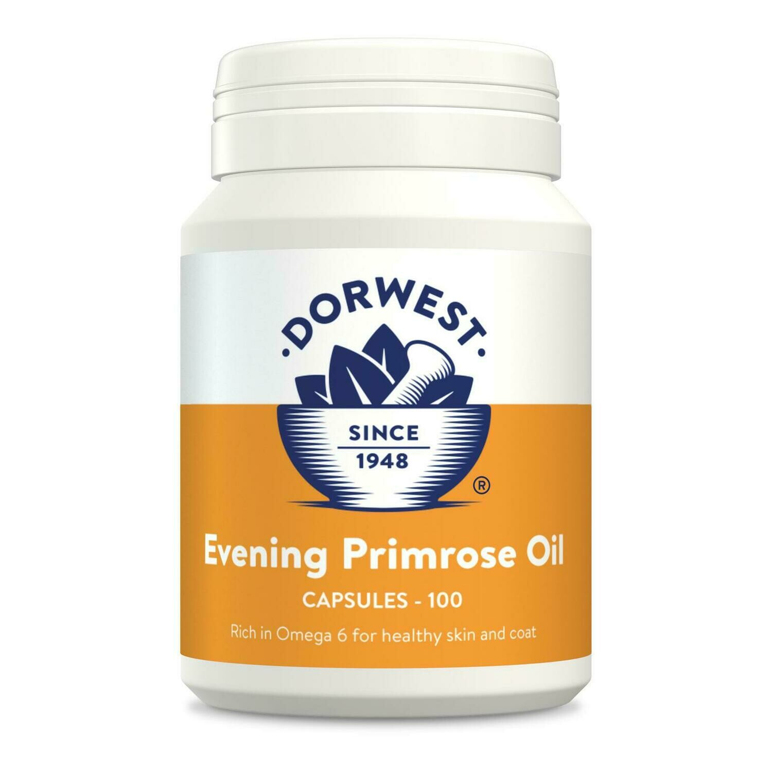 Dorwest Herbs Evening Primrose Oil Capsules for Cats and Dogs (100)