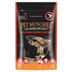 Pet Munchies 100% Natural Medium Salmon Skin Chews