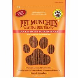 Pet Munchies 100% Natural Duck & Sweet Potato Dental Sticks