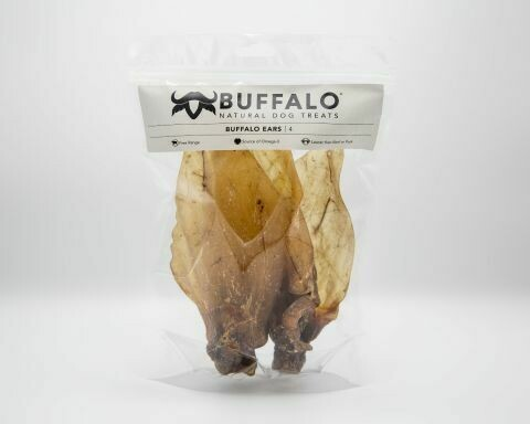 Buffalo Ears Dog Treat (4 Pack)