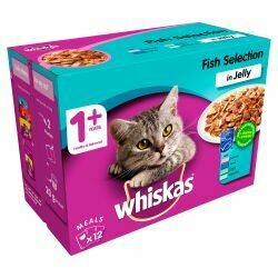 Whiskas Pouch Fish in Jelly 12 Pack, 100g