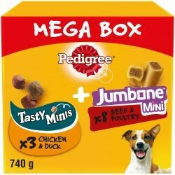 Pedigree Tasty Mini's & Jumbone Small Mega Box