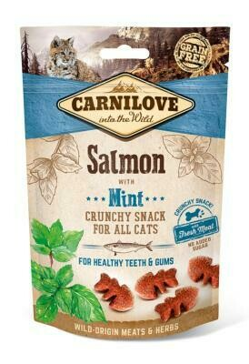 Carnilove Salmon with Mint 50g Cat Treats
