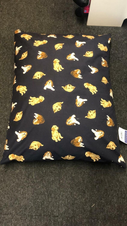 Luxury Dog Print Cushion Bed