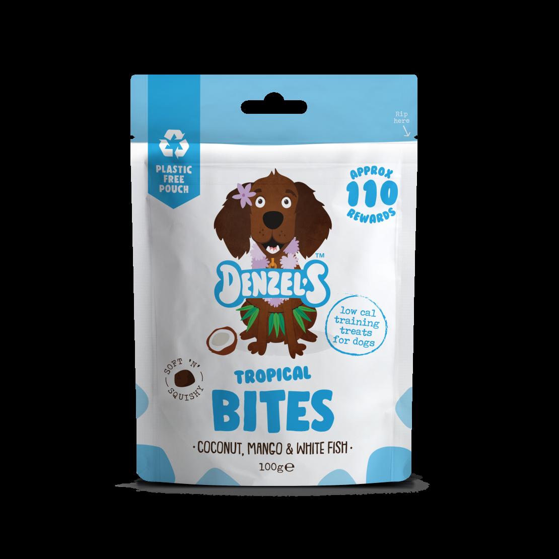 Denzel's Tropical Bites For Dogs Coconut Mango & White Fish 100g