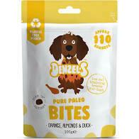 Denzel's Pure Paleo Bites For Dogs Orange Almond & Duck 100g