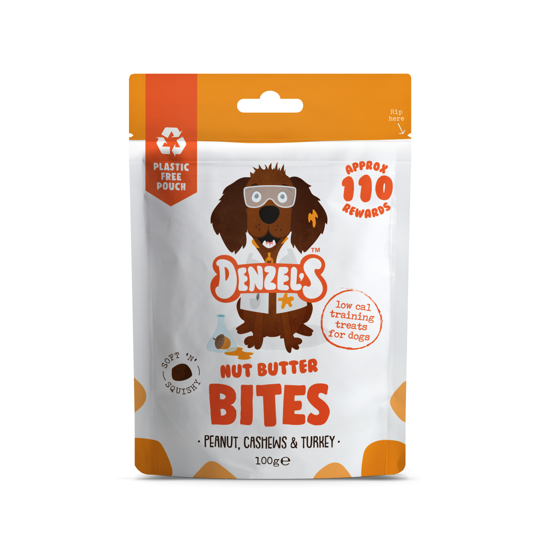 Denzel's Nut Butter Bites For Dogs Peanut Cashews & Turkey 100g