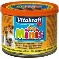 Vitakraft Dog Minis Snack Sausages (Net 190g/Dry 120g)