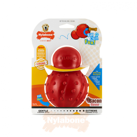 Nylabone Bacon Strong Cone Chew Large