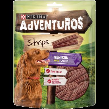 ADVENTUROS® Strips Venison Dog Treats