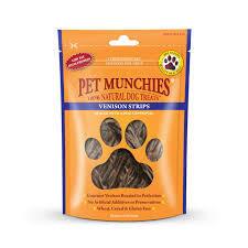 Pet Munchies 100% Natural Venison Strips 90g