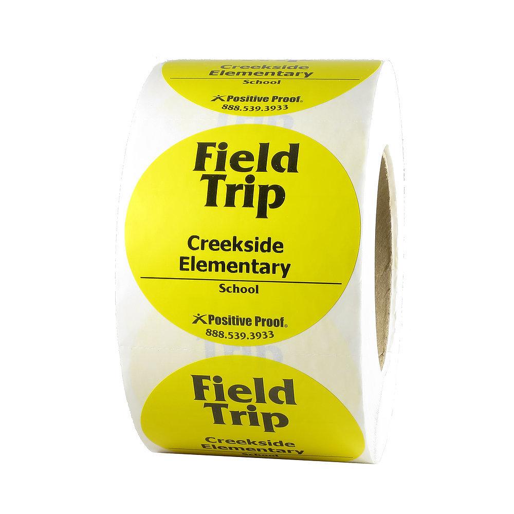 Custom Imprinted Field Trip Stickers