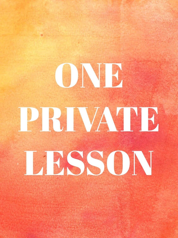 Individual Private Lesson