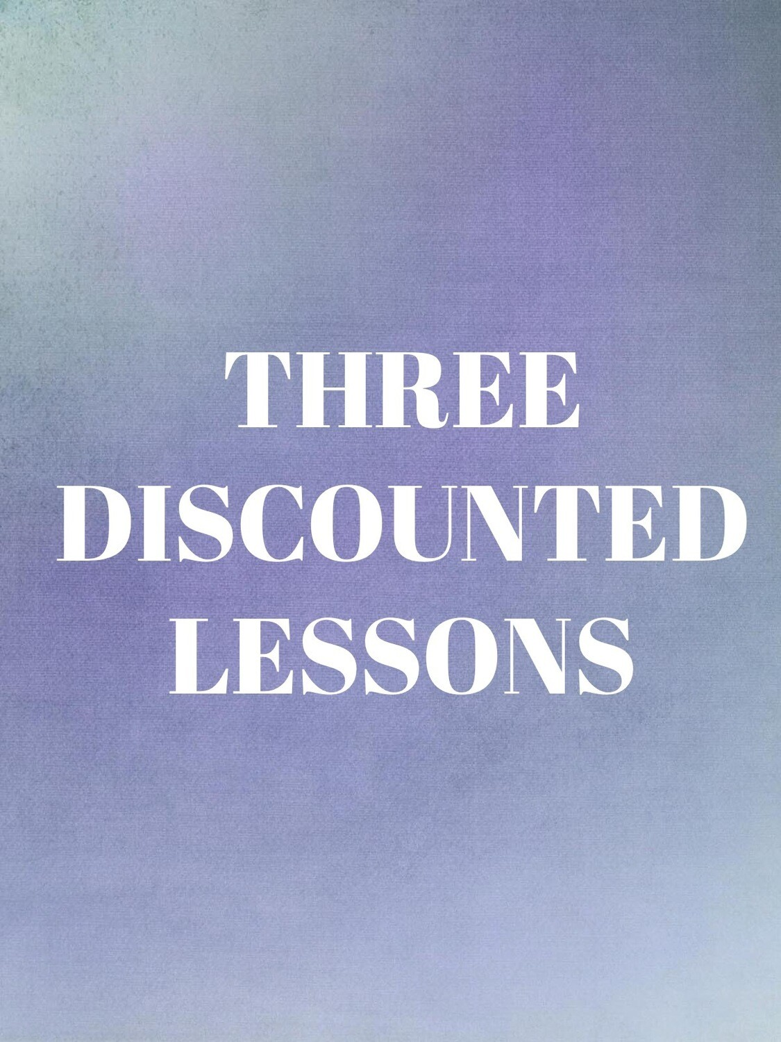 Three Individual Private Lessons