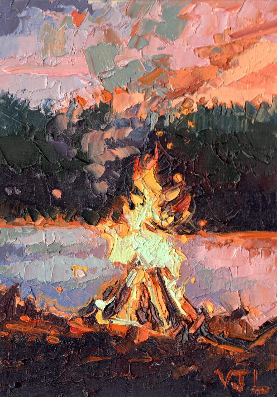 Pink Sky Campfire