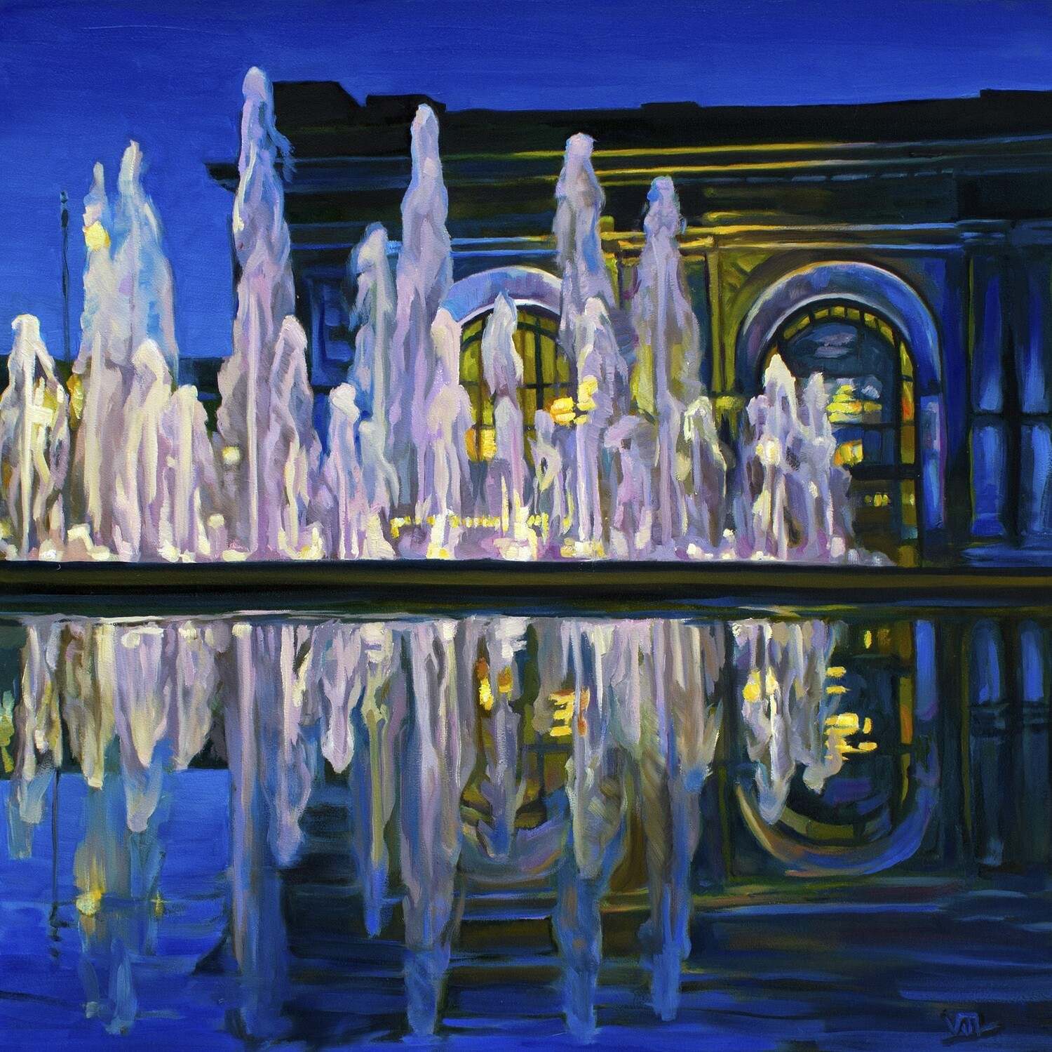 """""""Deep Blue Union Station"""" by Vanessa Lacy"""