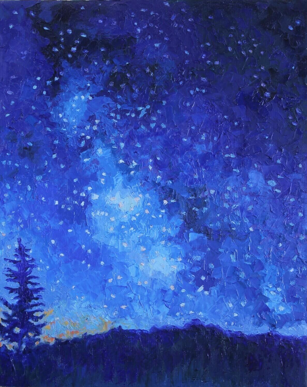Colorado Sky with Pine Tree