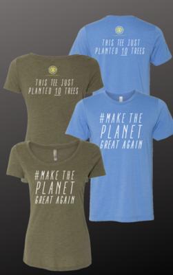 #MakeThePlanetGreatAgain Short Sleeved T-Shirt