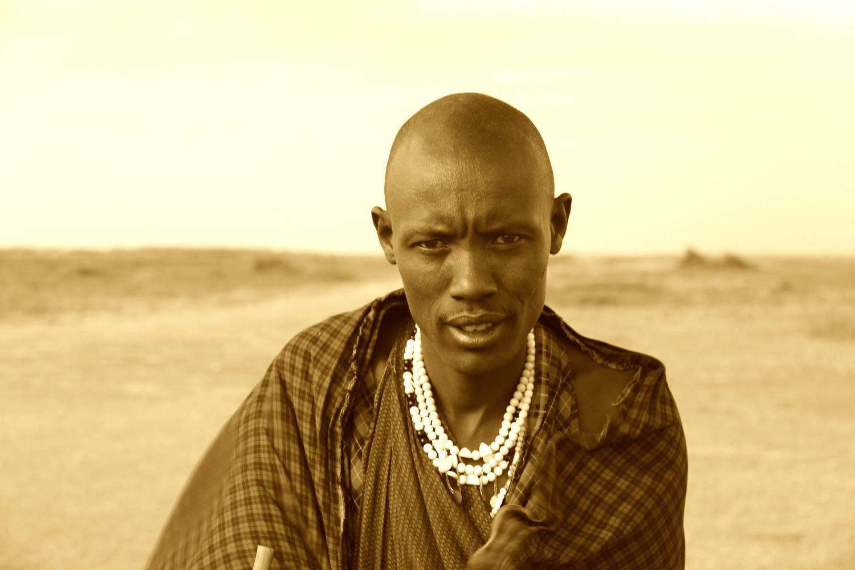 Signed Print: Masai Chief, Tanzania