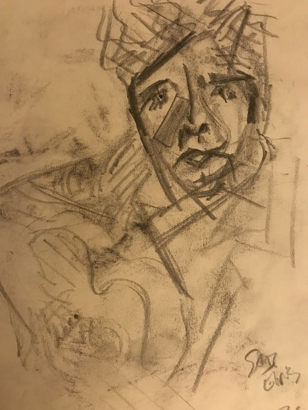 Coffee And A Sketch: Sad Elvis