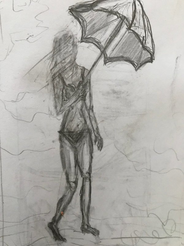 Coffee and A Sketch: Monet's Umbrella
