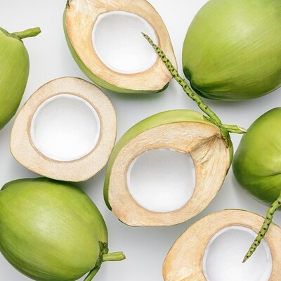 Fresh Coconut - Green, Young, Organic, Coco - Box of 8