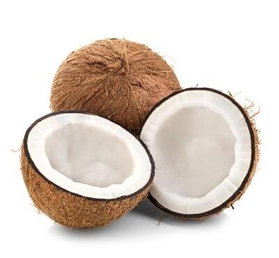 Peeled Fresh Coconuts, 8 Month Ripe, Organic - Box of 4
