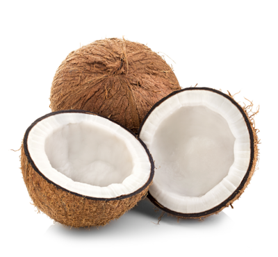 Peeled Fresh Coconuts, 8 Month Ripe, Organic - Box of 20