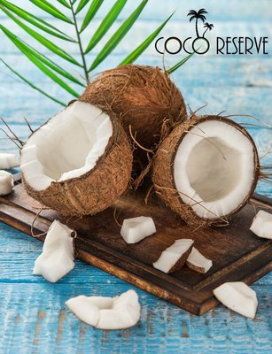 Fresh Coconut - Brown Mature Coco - rich coconut meat - 4pcs