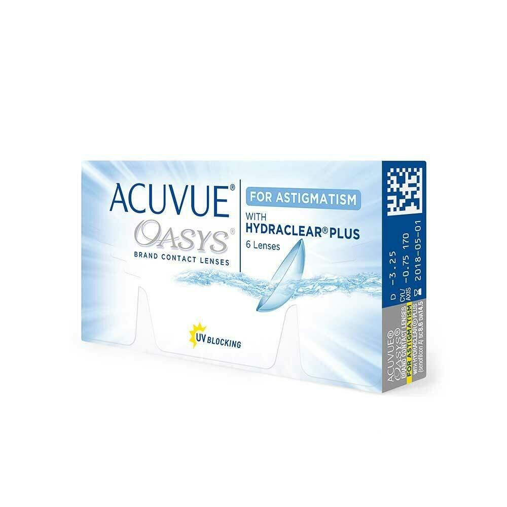 Acuvue Oasys  Bi Weekly Astigmatism Lens 6 Pc