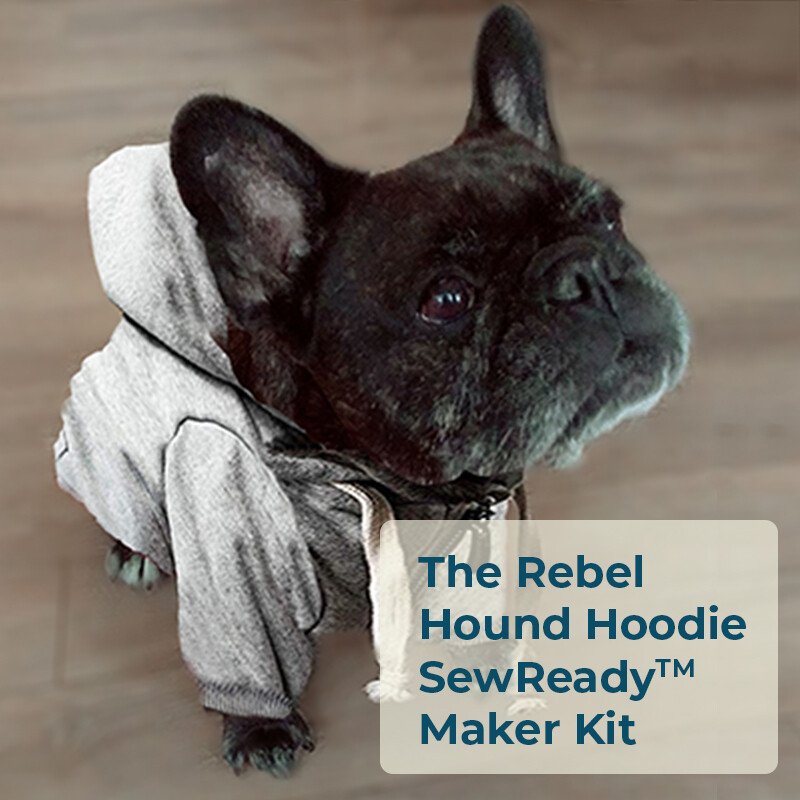 The Rebel Hound Hoodie SewReady™ Maker Kit