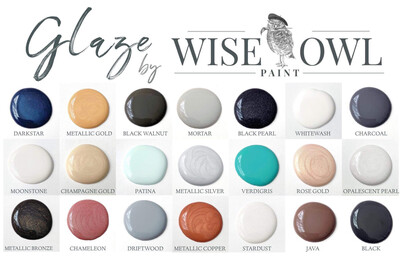Wise Owl Glaze Half Pint 8 Oz,  ***FREE SHIPPING***