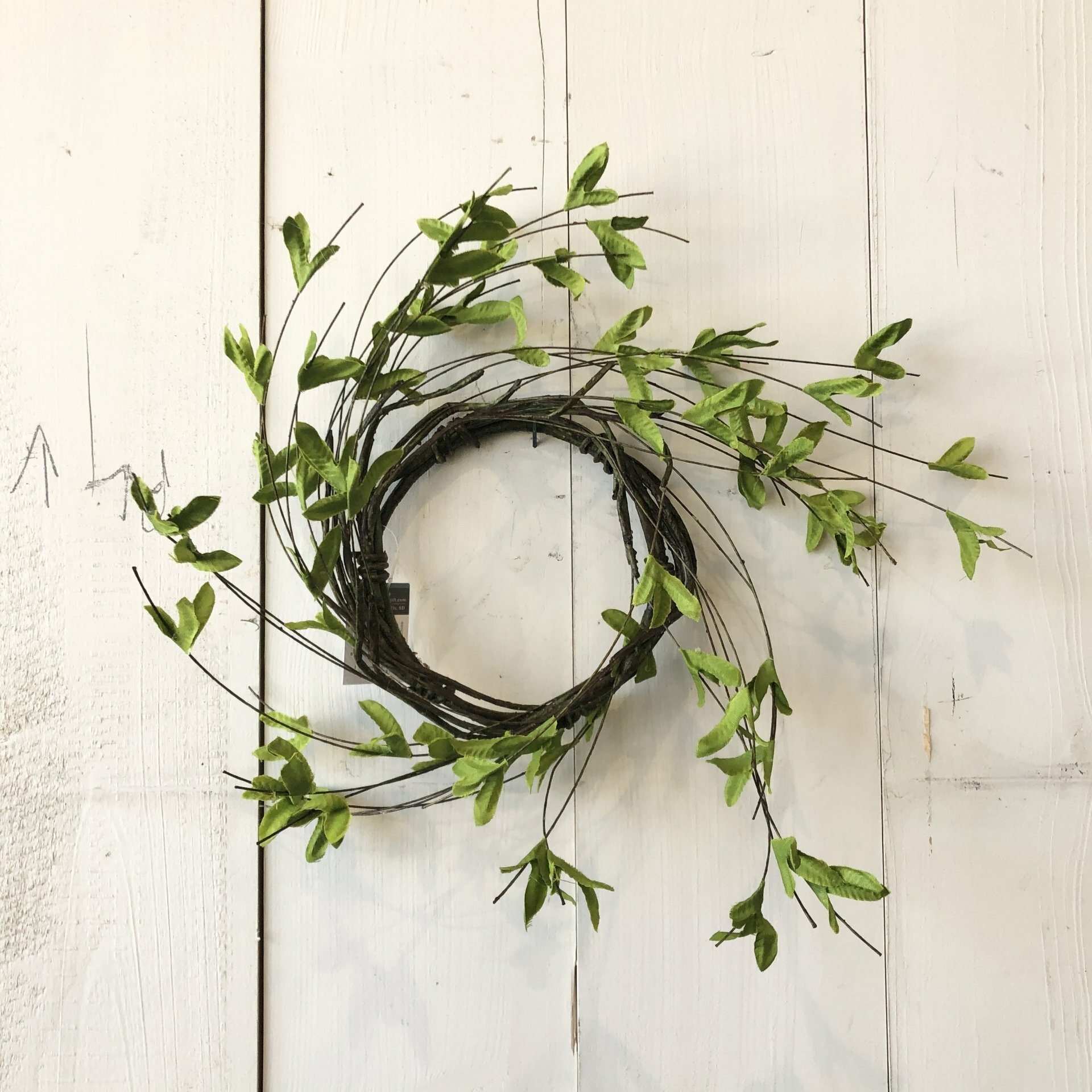 Spring Green Candle Ring Wreath