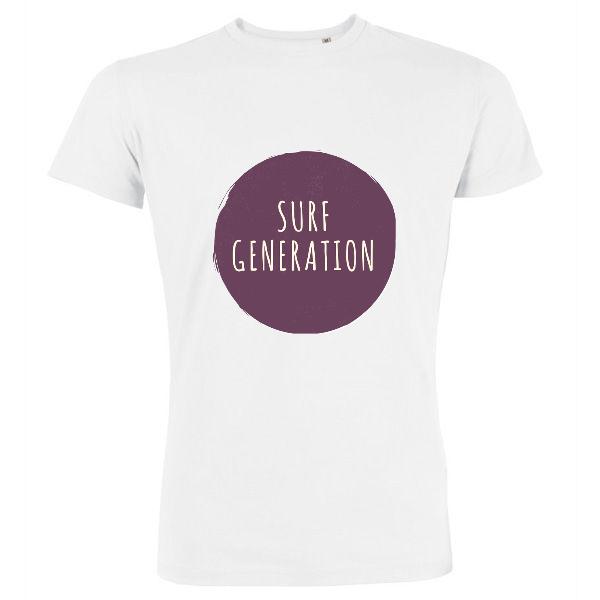"""Homme - Tee-Shirt """"SURF GENERATION"""" (Imprimé / Recto)"""