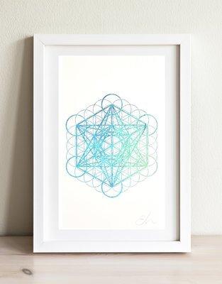 Metatron's Cube Holographic Print