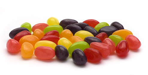 Just Born Teenie Beenie Real Fruit Jelly Beans 8 ounce bag