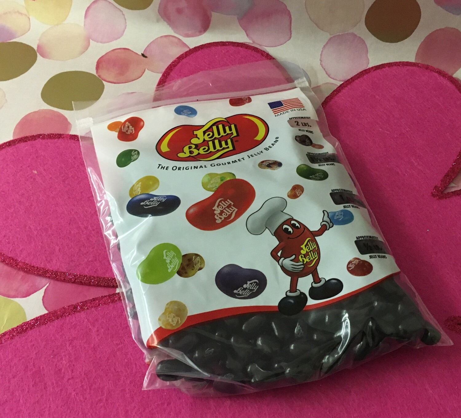 Jelly Belly Licorice (all black jelly belly beans).