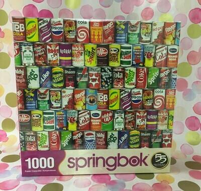 Cans.  Springbok Puzzle.  1000 piece puzzle.