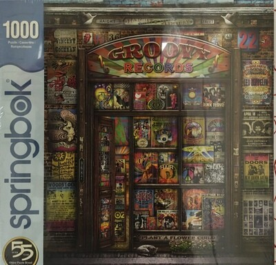 Groovy Records.  1000 piece puzzle.