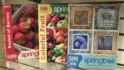 500 Piece Puzzles.  Choose your Favorite.