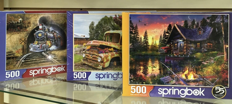 500 Piece Puzzles.  Choose your Favorite.