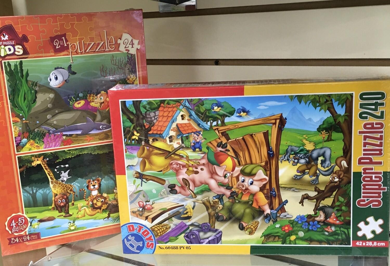 Kids Puzzles.  Choose Favorite.