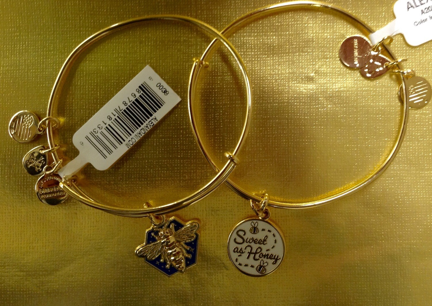 Honey bee or Sweet as Honey Bangle Bracelet.