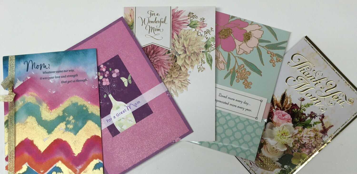 """Mother's Day """"to Mom"""" Cards."""