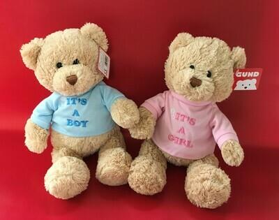 It's a Boy or It's a Girl Bear from Gund.