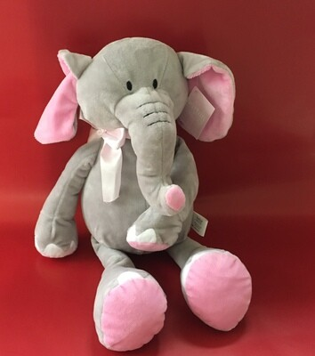 Pink and Grey Elephant.