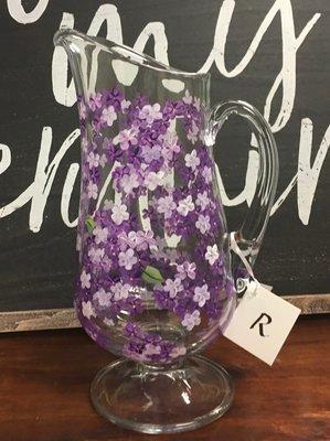 Purple Hydrangea Pitcher 12