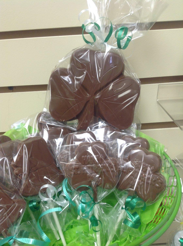 Large Chocolate Shamrock.  Peanut & Gluten Free.