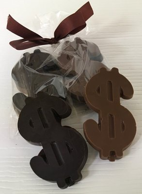 Small Chocolate Dollar Signs (10)