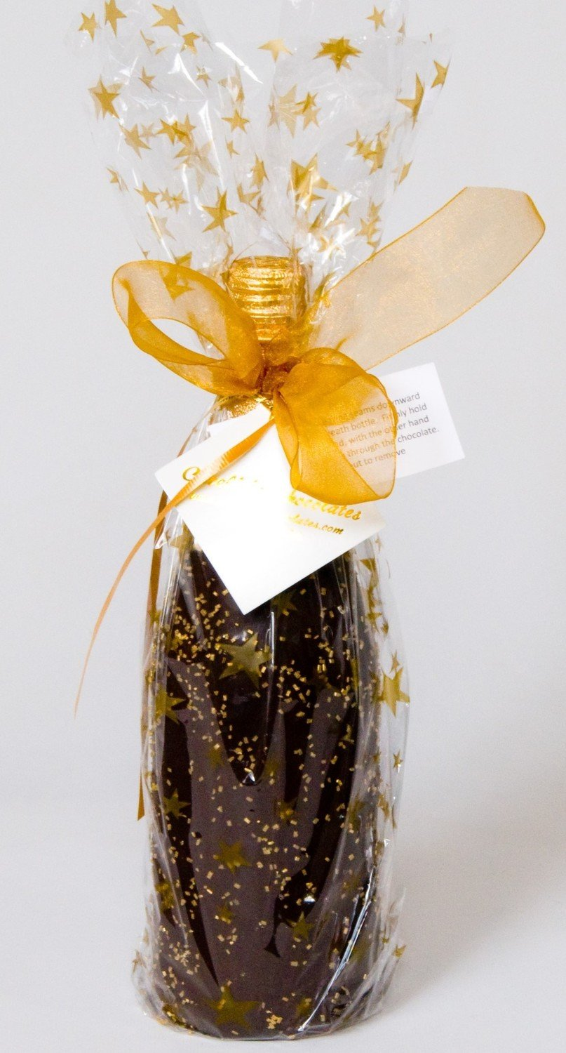 Martinelli's Sparkling Cider Chocolate Covered and wrapped in designer paper